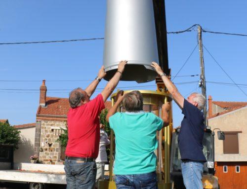 Installation de la lampe sur le site