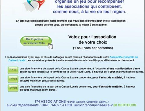 Concours Crédit Agricole »Mise à l'honneur des associations»