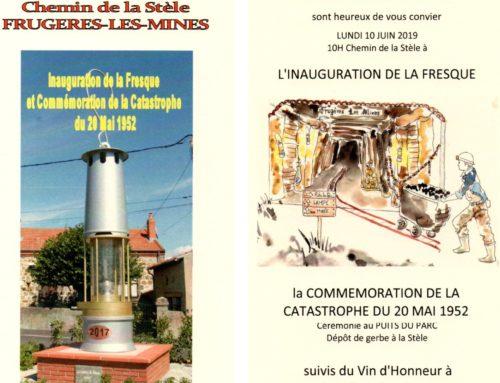 Invitation à l'inauguration de la fresque et commémoration de la catastrophe du 20 mai 1952